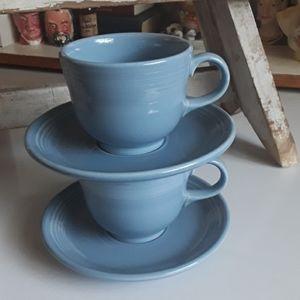 Vintage Periwinkle Fiestaware Cup & Saucer Set